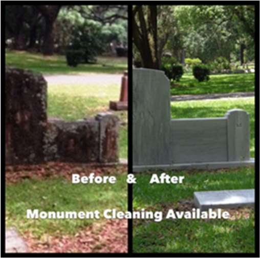 Before & After Monument Cleaning Available